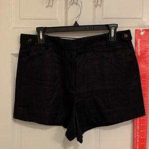 Dark navy linen shorts